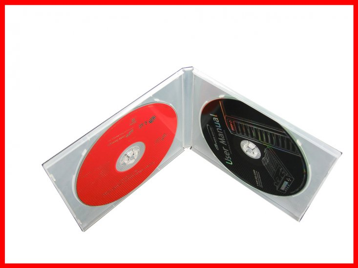 10MM PP CD CASE DOUBLE CLEAR 20pcs per pack - Click Image to Close