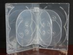 Crystal Clear Multi Ten Tray DVD Case Box 33mm 10 Discs Holder W Flap Premium Quality