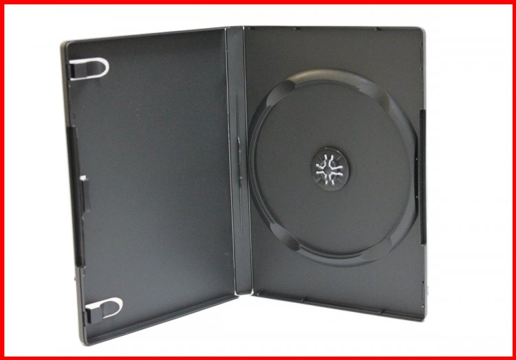 New 100 Pk MegaDisc Premium Black 1 Disc DVD Case Box Holder 14mm Standard Size Single Machinable Free Shipping - Click Image to Close