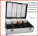 New MegaDisc 1000 CD DVD Silver Aluminum Media Storage Case Mess-Free Holder Box with Sleeves Free Shipping