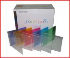 Memorex Slim Colorful CD Jewel Case 100 Pk 5.2mm Single Disc Box Mixed Color