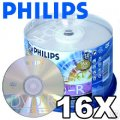 Philips DVD-R 16x 4.7GB White Inkjet Printable 50 Pack