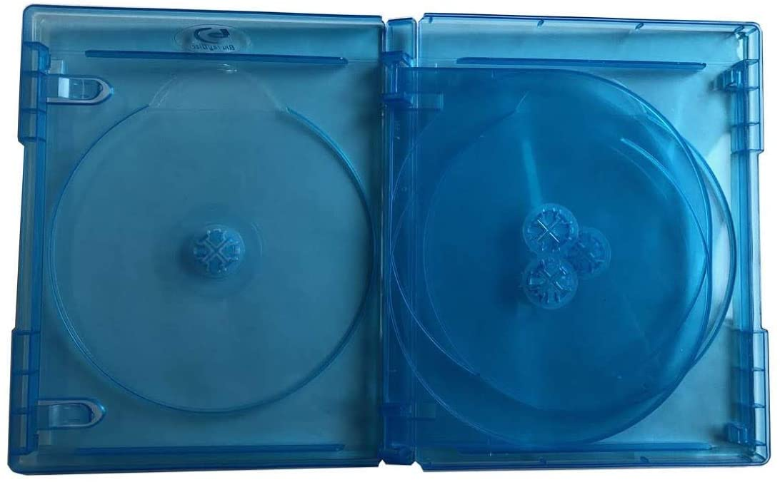 New MegaDisc Hold 4 Discs Blu-Ray replacement Premium case Box Quad (4 Tray)