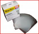 MEGADISC CD/DVD KEEPERS CLEAR 100 PK(Memorex Quality)